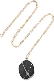 Xquise 18-karat gold, stone and diamond necklace