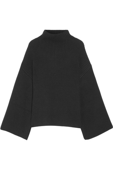 e20a6fa53b45fd Rosetta Getty. Asymmetric ribbed wool and cashmere-blend turtleneck sweater