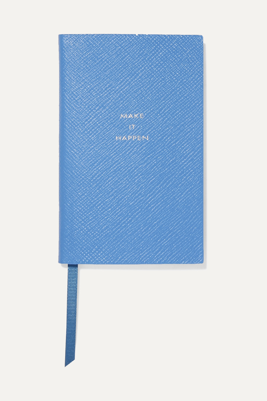 Smythson Panama Make It Happen textured-leather notebook