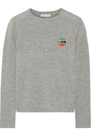 Lion intarsia wool and cashmere-blend sweater