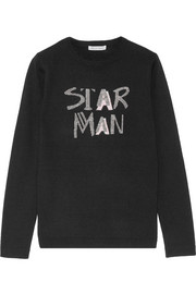 Bella Freud Star Man metallic intarsia wool-blend sweater