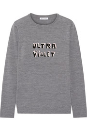 Bella Freud Ultra Violet intarsia merino wool sweater