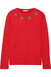 Star Spangle metallic intarsia cashmere-blend sweater