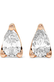 Anita Ko 18-karat rose gold diamond earrings