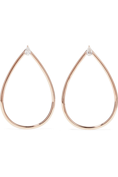 Anita Ko - 18-karat Rose Gold Diamond Earrings