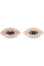 Anita Ko Evil Eye 18-karat rose gold, diamond and sapphire earrings