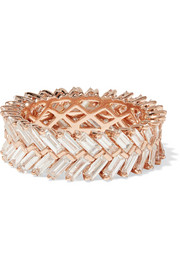 Anita Ko Zipper 18-karat rose gold diamond ring