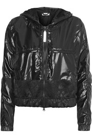 Adidas by Stella McCartney Hooded Climastorm glossed-shell jacket