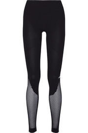 Mesh-paneled Climalite stretch-jersey leggings