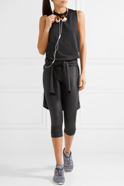 Adidas by Stella McCartney Paneled mesh and Climacool stretch  tank