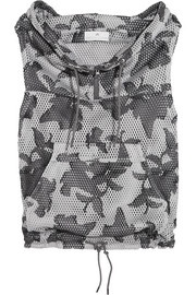 Adidas by Stella McCartney Hooded printed mesh vest