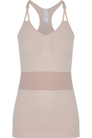 Adidas by Stella McCartney The Tank two-tone stretch top