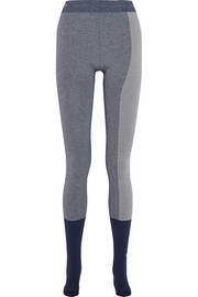 Adidas by Stella McCartney Paneled Climalite stretch-jersey leggings