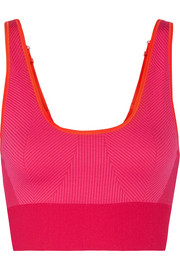 Adidas by Stella McCartney The Seamless color-block stretch sports bra