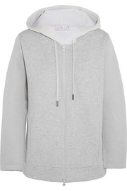 Bonded jersey hooded top