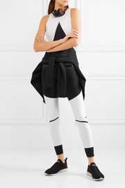 Adidas by Stella McCartney Paneled Climalite stretch-jersey tank