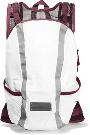Mesh-paneled shell backpack