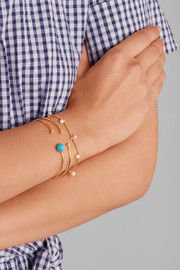 18-karat gold, turquoise and diamond bracelet