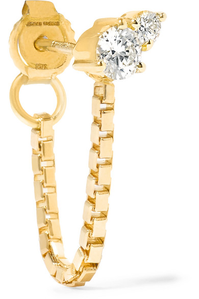 Jemma Wynne - 18-karat Gold Diamond Earring