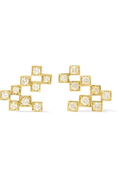 Jemma Wynne - Revival 18-karat Gold Diamond Earrings