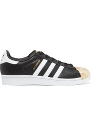 adidas Originals Superstar metal-paneled leather sneakers