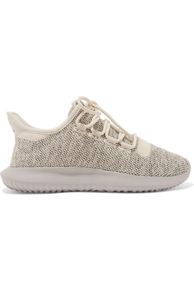 Adidas Originals zapatilla ROJO un tubular de sombra Stretch Knit