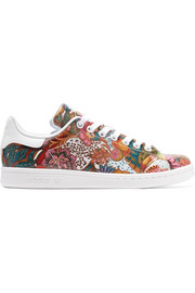 adidas Originals + The Farm Company Stan Smith printed leather sneakers