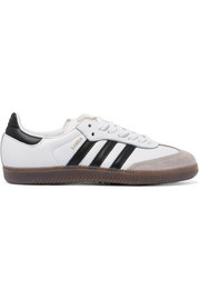 adidas Originals Samba suede-trimmed leather sneakers
