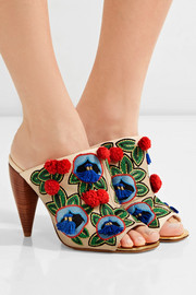 Tory Burch Ellis embellished leather mules