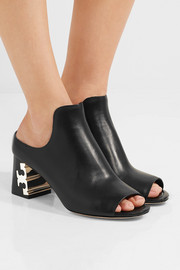 Tory Burch Finley leather mules
