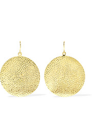 Jennifer Meyer Hammered 18-karat gold earrings