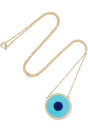 Jennifer Meyer Evil Eye 18-karat gold multi-stone necklace