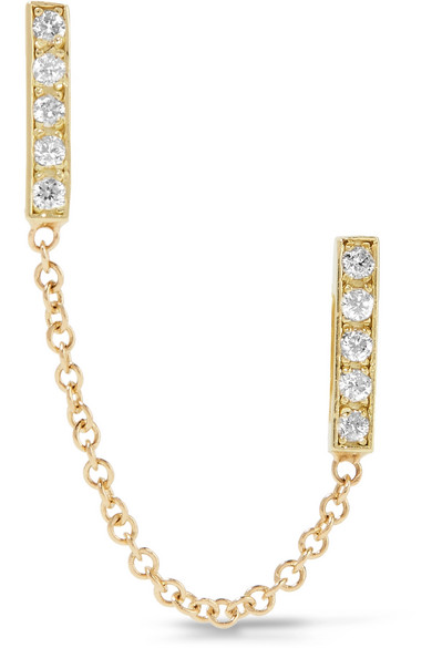 Jennifer Meyer - 18-karat Gold Diamond Earring