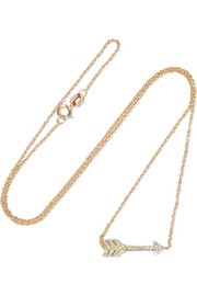 Jennifer Meyer Mini Arrow 18-karat gold diamond necklace