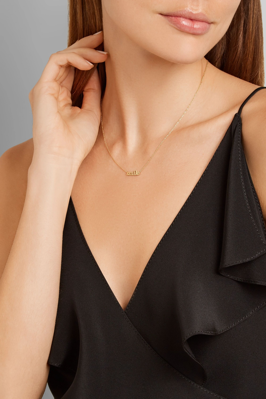 Jennifer Meyer Collier en or 18 carats Smile