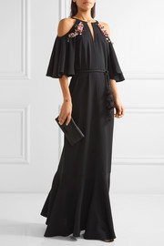 Lyon embellished stretch-crepe gown