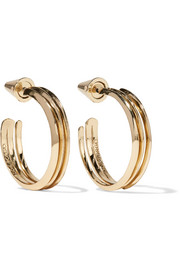 Eddie Borgo Trace gold-plated hoop earrings