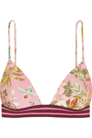 Zimmermann Tropicale floral-print triangle bikini top