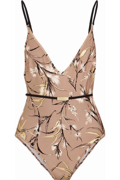 zimmermann female zimmermann gossamer printed swimsuit beige