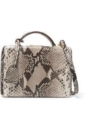 Mark Cross Grace small python shoulder bag