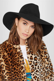 Eugenia Kim Bette faux pearl-embellished wool-felt fedora