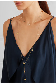 Layered Pendant gold-plated necklace
