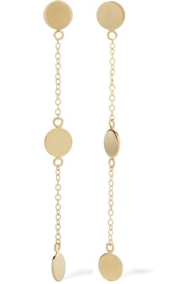Arme De L'Amour - Triple Drop Gold-plated Earrings