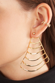 Ruffle gold-plated ear cuff