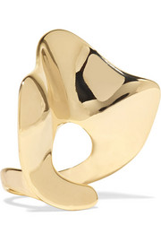 Arme De L'Amour Ruffle gold-plated ring