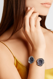 Kimberly McDonald 18-karat gold, geode and diamond cuff