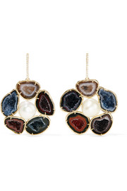 Kimberly McDonald 18-karat gold multi-stone earrings