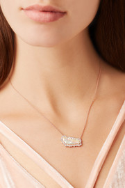 Kimberly McDonald 18-karat rose gold, pearl and diamond neklace