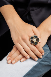 Kimberly McDonald 18-karat gold, geode and pearl ring
