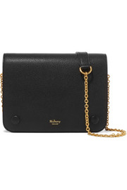 Clifton small textured-leather shoulder bag